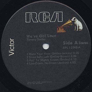 Tommy Smiley / We've Got Love label