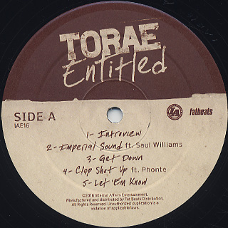 Torae / Entitled (2LP) label