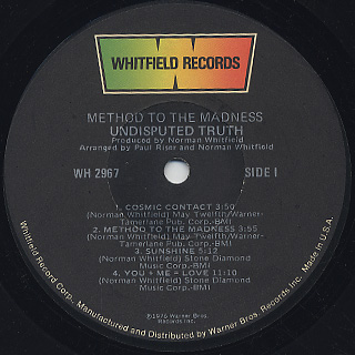 Undisputed Truth / Method To The Madness label