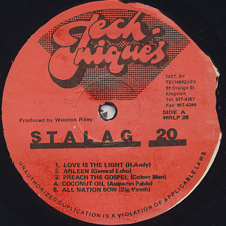 V.A. / Original Stalag 20 label