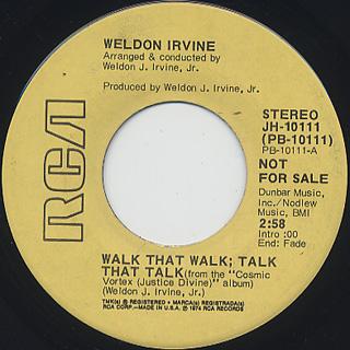 Weldon Irvine / Walk That Walk; Talk That Talk