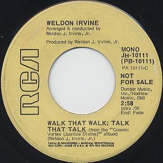 Weldon Irvine / Walk That Walk; Talk That Talk back