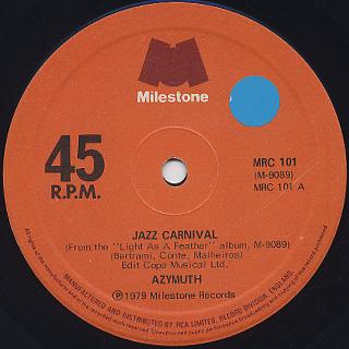 Azymuth / Jazz Carnival back