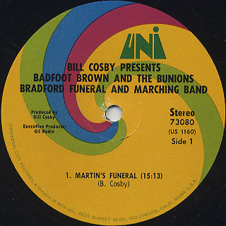 Badfoot Brown And The Bunions Bradford Funeral And Marching Band / S.T. label