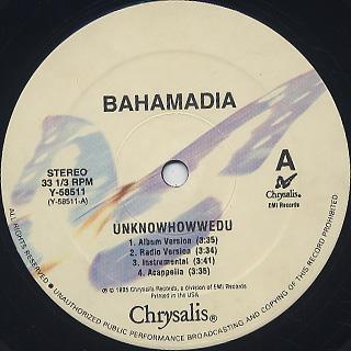 Bahamadia / Uknowhowwedu (You Know How We Do) label