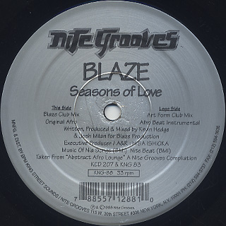 Blaze / Seasons Of Love back