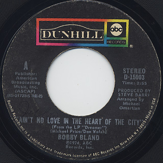Bobby Bland / Ain't No Love In The Heart Of The City