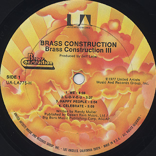 Brass Construction / III label