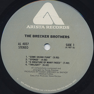 Brecker Brothers / S.T. label