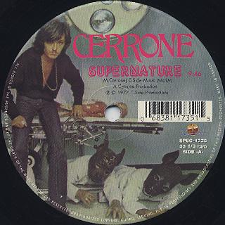 Cerrone / Supernature c/w Give Me Love back