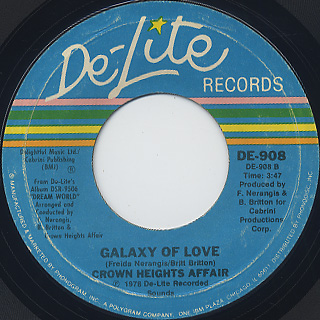 Crown Heights Affair / Say A Prayer For Two c/w Galaxy Of Love back