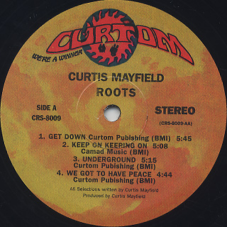 Curtis Mayfield / Roots label