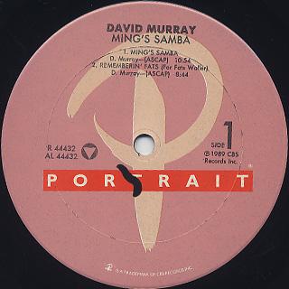 David Murray / Ming's Samba label