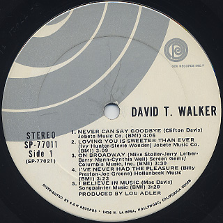 David T. Walker / S.T. label