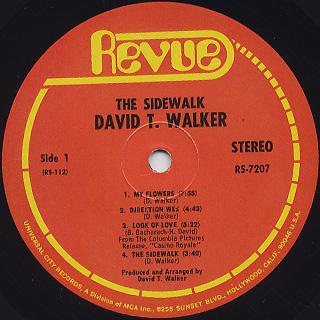 David T. Walker / The Sidewalk label