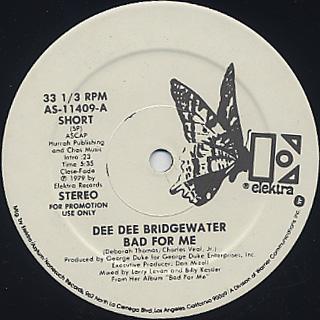 Dee Dee Bridgewater / Bad For Me back