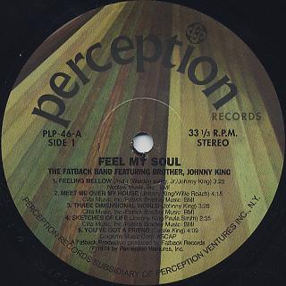 Fatback Band / Feel My Soul label