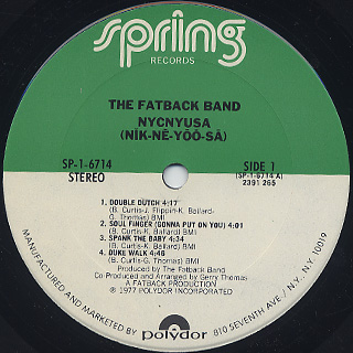 Fatback Band / NYCNYUSA label