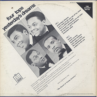 Four Tops / Yesterday's Dream back