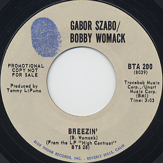 Gabor Szabo / Bobby Womack / Breezin' c/w Azure Rain
