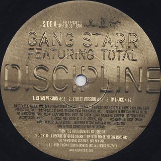 Gang Starr / Discipline back