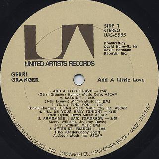 Gerri Granger / Add A Little Love label