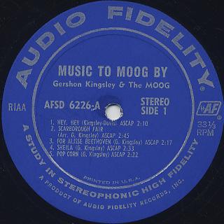 Gershon Kingsley / Music To Moog By label