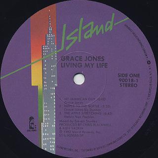 Grace Jones / Living My Life label