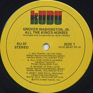 Grover Washington, Jr. / All The King's Horses label