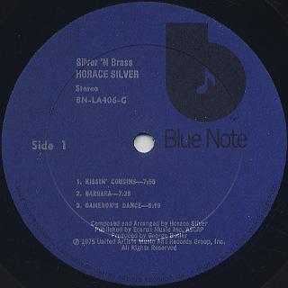 Horace Silver / Silver 'N Brass label