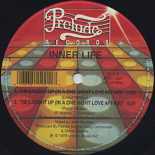 Inner Life / I'm Caught Up (In A One Night Love Affair) label