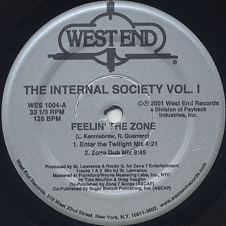 Internal Society / Feelin' The Zone back