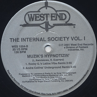 Internal Society / Feelin' The Zone label