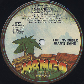 Invisible Man's Band / S.T. label