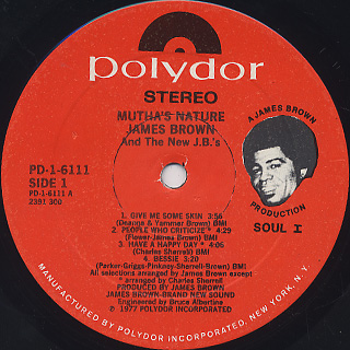 James Brown / Mutha's Nature label