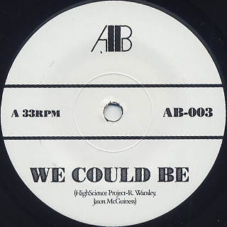 Jason McGuiness / We Could Be c/w Empyrean Tones label