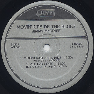 Jimmy McGriff / Movin' Upside The Blues label