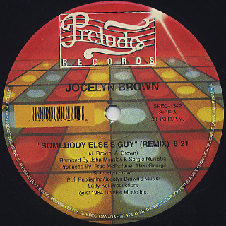 Jocelyn Brown / Somebody Else's Guy back