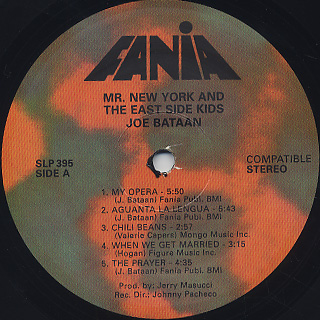 Joe Bataan / Mr. New York And The East Side Kids label
