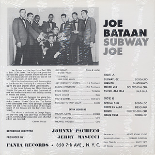 Joe Bataan / Subway Joe back