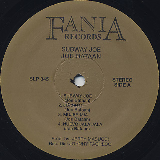 Joe Bataan / Subway Joe label