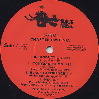 Ju Ju / Chapter Two:Nia label
