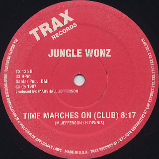 Jungle Wonz / Time Marches On back