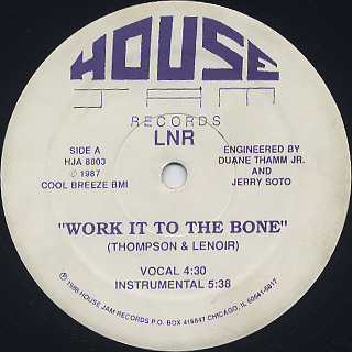 LNR / Work It To The Bone front