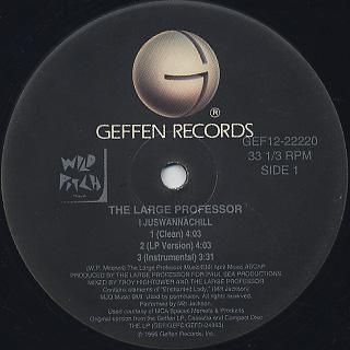 Large Professor / I juswannachill label