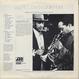 Les McCann & Eddie Harris / Swiss Movement back