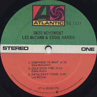 Les McCann & Eddie Harris / Swiss Movement label