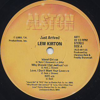 Lew Kirton / Just Arrived label