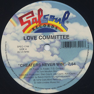 Love Committee / Cheaters Never Win c/w Law And Order back