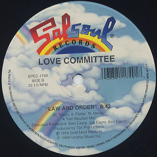 Love Committee / Cheaters Never Win c/w Law And Order label